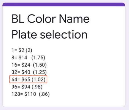 price palette
